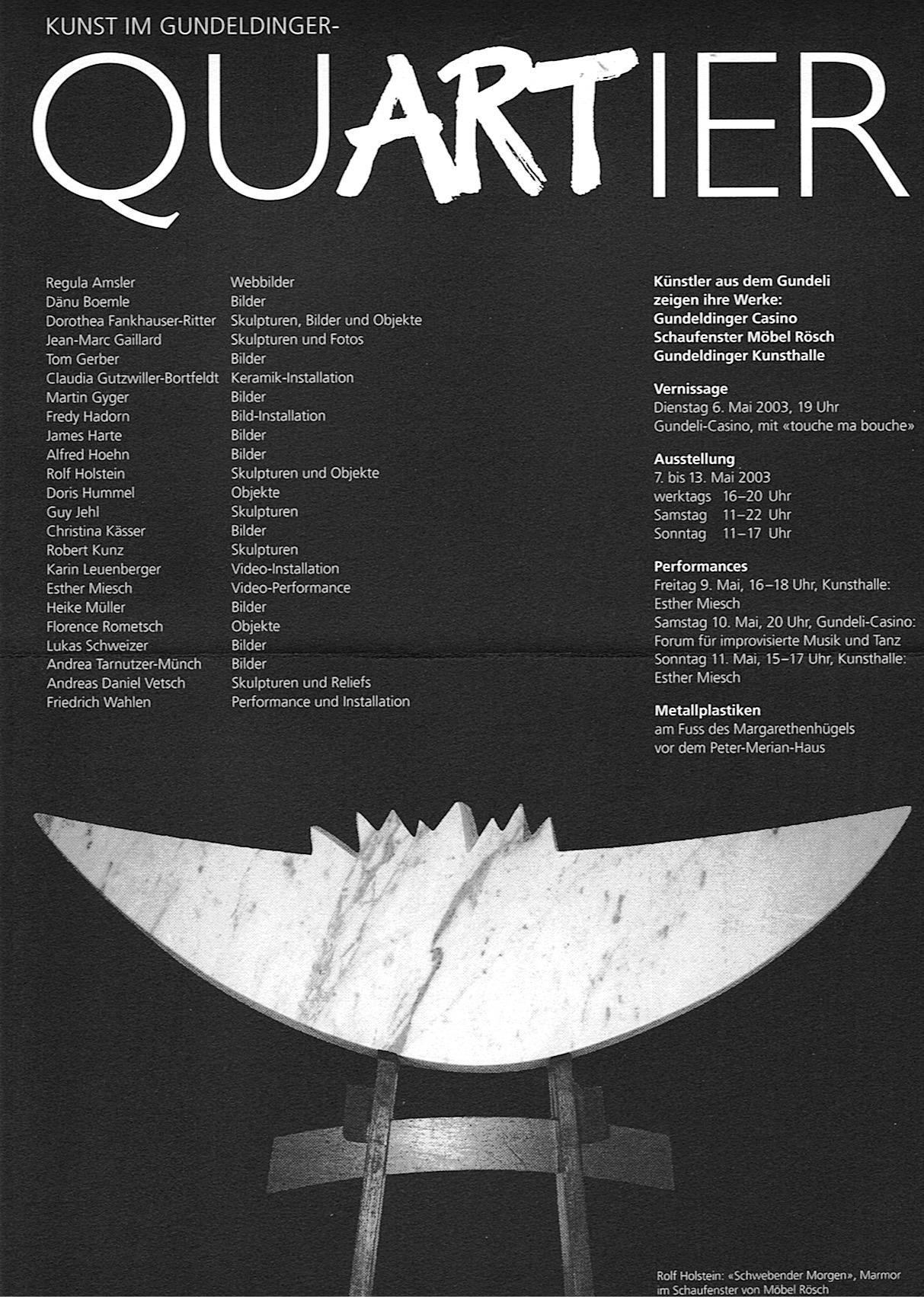 Ausstellung QuARTier 2003
