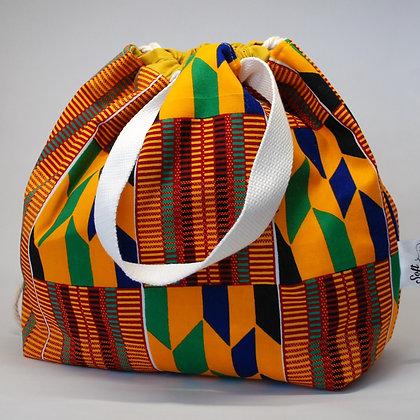 Farai Kente Print small project bag