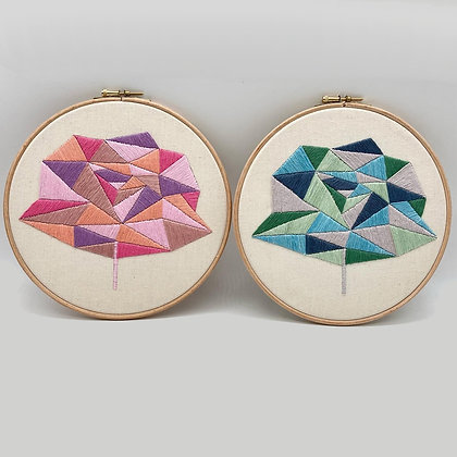 Rose Embroidery Kit (with threads)