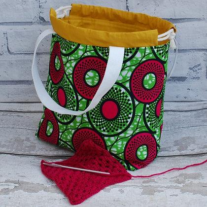 Farai Pink Circles Small Project Bag