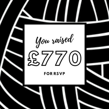 £770 raised for RSVP