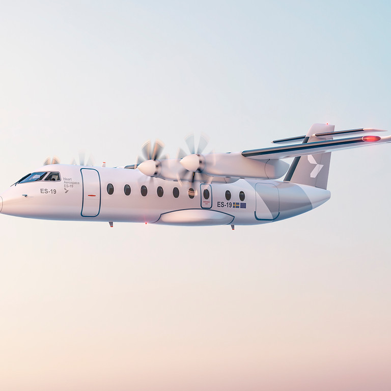 Electric aircraft visit Visby