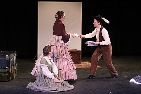 Jo in Little Women at UC Irvine