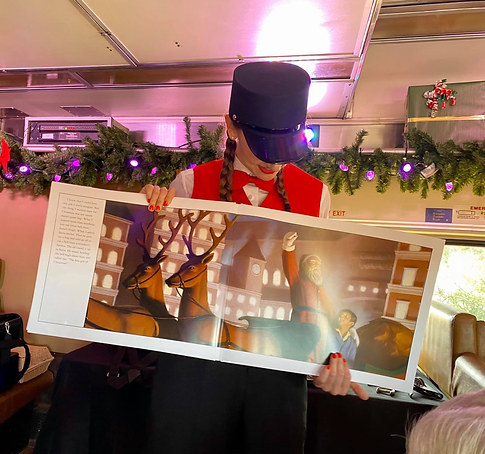 Kristen in The Polar Express Train Ride
