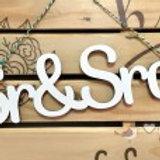 "FRASE DECORATIVA ""SR & SRA"""