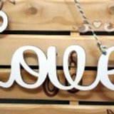 "FRASE DECORATIVA ""LOVE"""