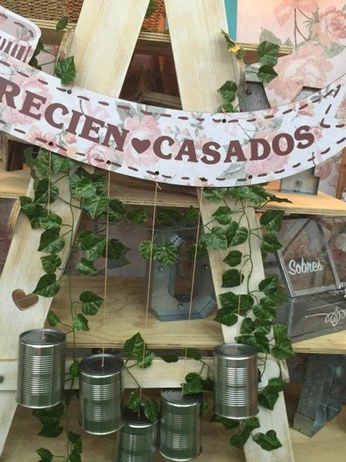 """MOVIL CORAZÓN """"NOS CASAMOS"""" PARA DECORAR EL CARRO"""