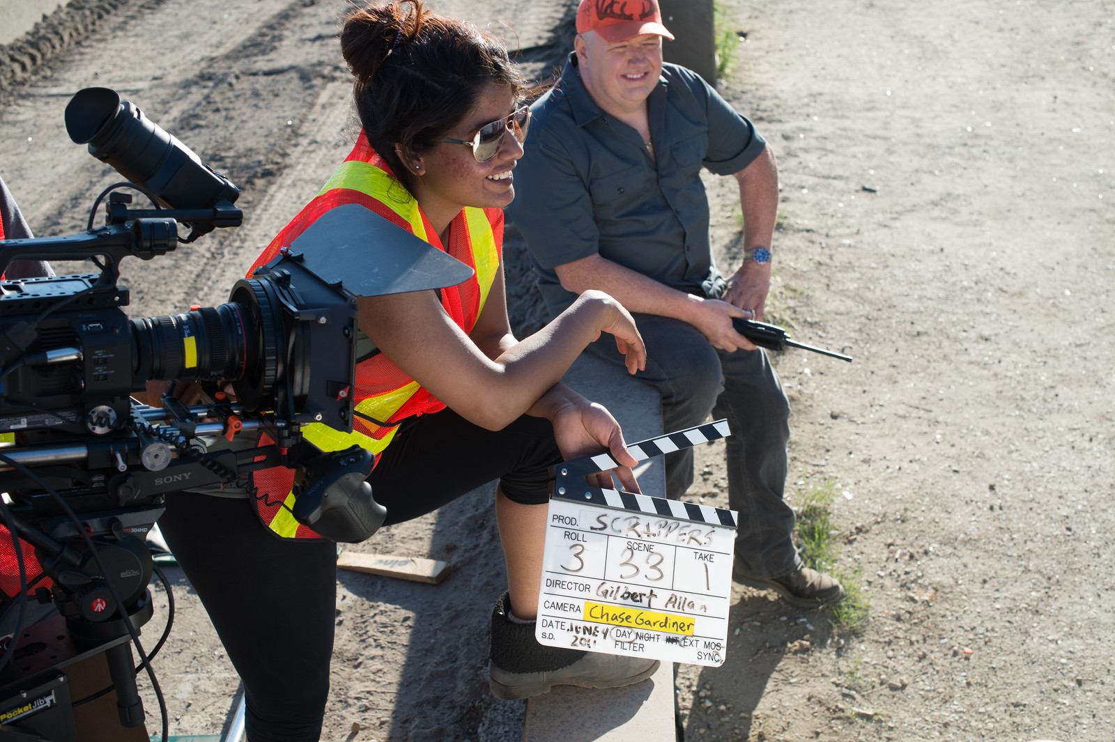 Camera, Slate, Actor, Assistant,