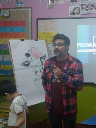 ¡Nos visita un ilustrador!