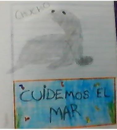 Oriana Torres. Chucho y cartel.