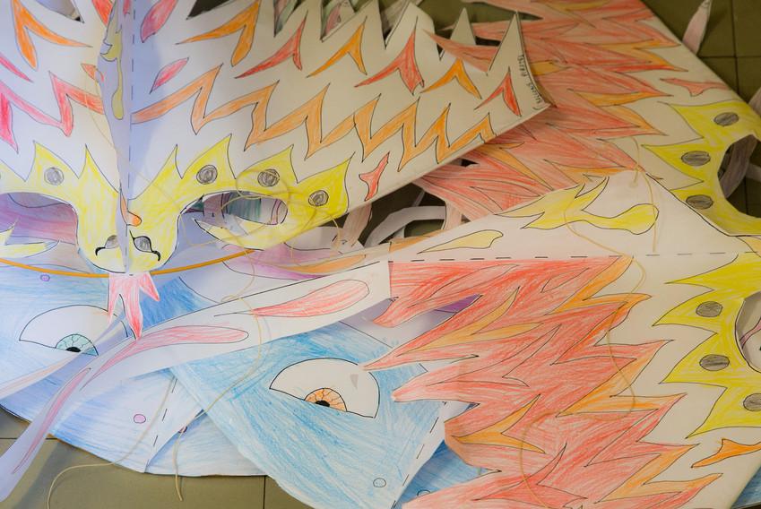Atelier de création de cerfs-volants
