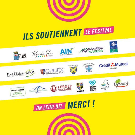 Partenaires mécènes Festival des arts urbains Tôt ou T'Arts Pays de Gex