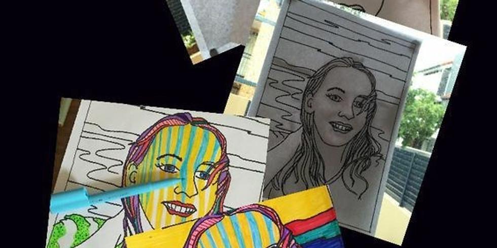 """Atelier GRAPHISME ado """"Customise ton portrait"""" 10-14 ans"""