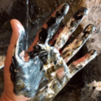 Akrylmaling på hånd