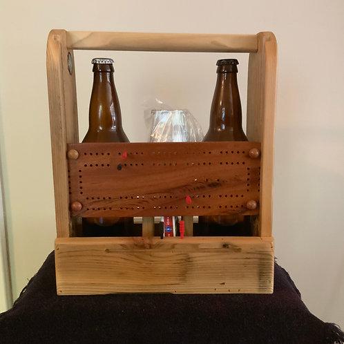 Cribbage Board Beer Caddy