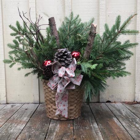 Outdoor Winter Baskets