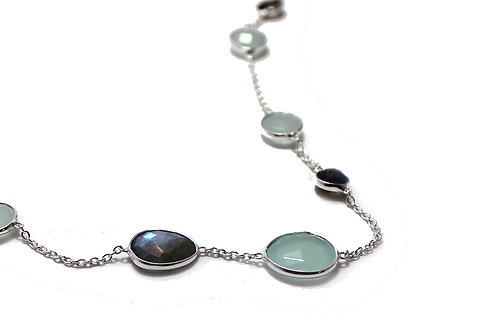 Cushion Stones Necklace - Ocean