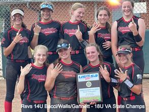Revolution Premier Bacci/Walls/Gannett 14U Win 18U VA State Championship