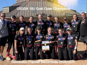 Revolution Premier Bacci/Walls 2024/2025 Win USSSA 18U Open Gold