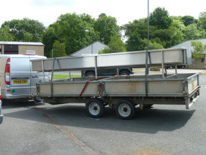 The curd table on the trailer
