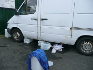 Our van having had diesel siphoned off