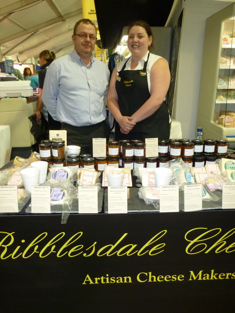 John the cheese maker with Lydia
