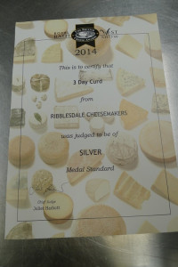 Our Goat Curd Silver certificate