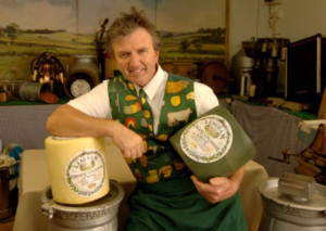 Bob Kitchin of Leagram's Dairy with one of his legendary zany waistcoats