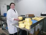 Lydia waxing smoked cheese