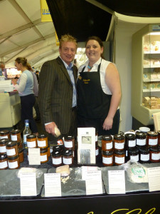 Sean and Lydia behind our stand