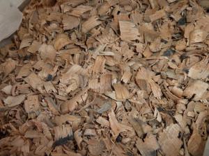 Oak shavings from Theakston's Brewery