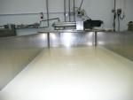 View down the vat, pasteurising 1,100 litres