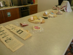 Our cheese tasting