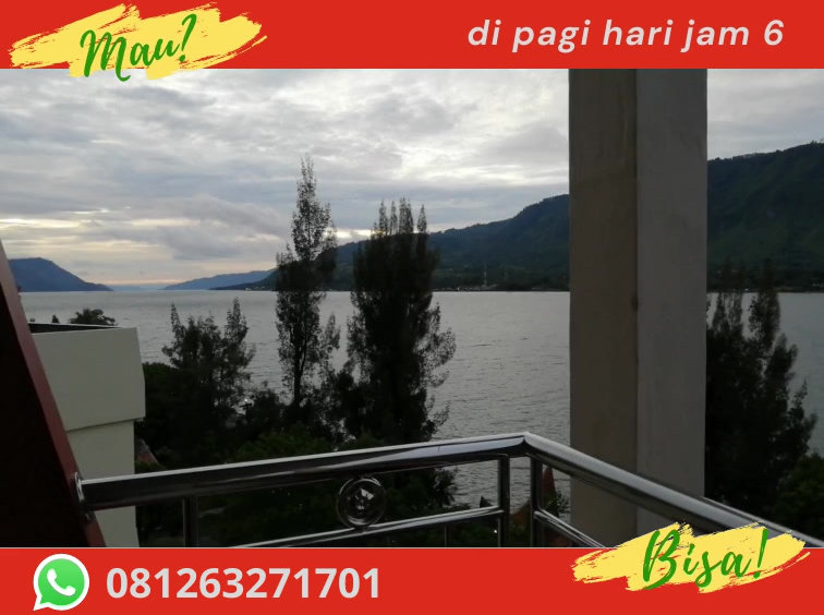 Zoes Paradise Waterfront Hotel: The 4th floor offers a breathtaking view of the lake and the mountain range that you can enjoy from a private balcony. A waterfall can be seen after rainy days.