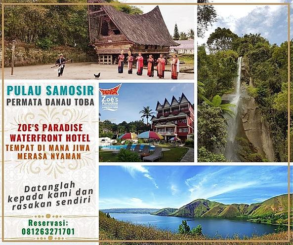 enjoy Zoe's Paradise and Samosir Island.