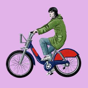 Vasiko Manjgaladze Cycling Character Illustrations and GIFs