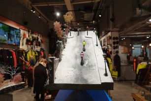 Rapha Soho dioramas by Jessica Sutton and The Model Cyclist