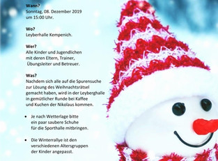 Jugendweihnachtsfeier des SC Kempenich e.V. - jetzt anmelden!