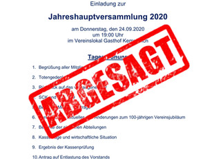 +++ ACHTUNG +++ ABSAGE +++
