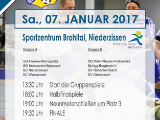 SG Kempenich/Spessart richtet 27. Fußball-Hallenturnier 2017 aus.