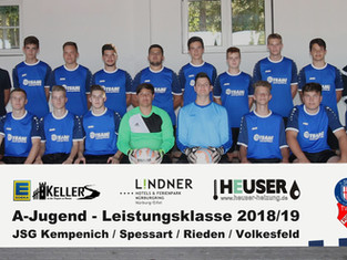 Junge A-Jugend Mannschaft akklimatisiert sich in der neuen Liga – Gesicherter Platz im Mittelfeld.