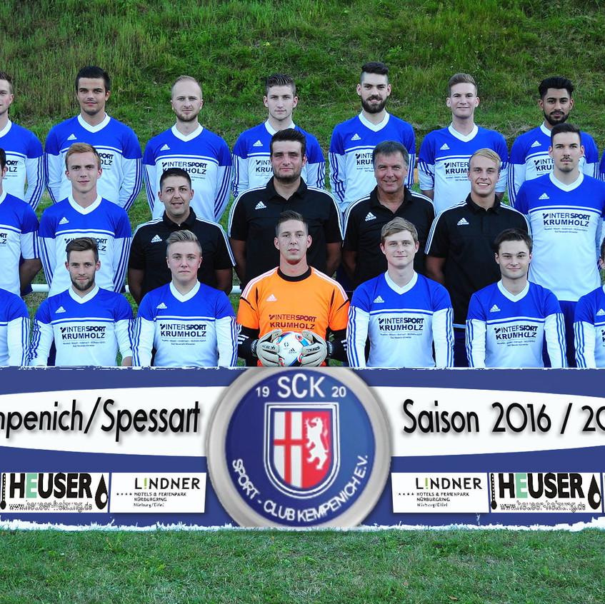 1. Mannschaft SG Kempenich-Spessart Saison 2016-2017