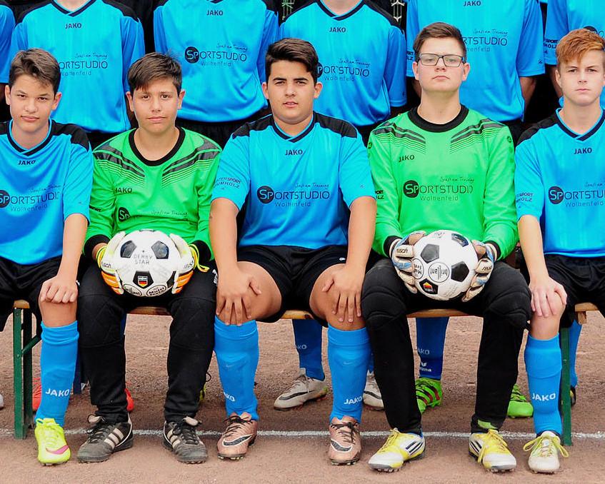 Mannschaftsbild B-Jugend JSG 2016-17