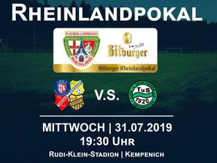 1. Runde Bitburger Rheinlandpokal: Mannschaft empfängt Rheinlandligist TuS Oberwinter