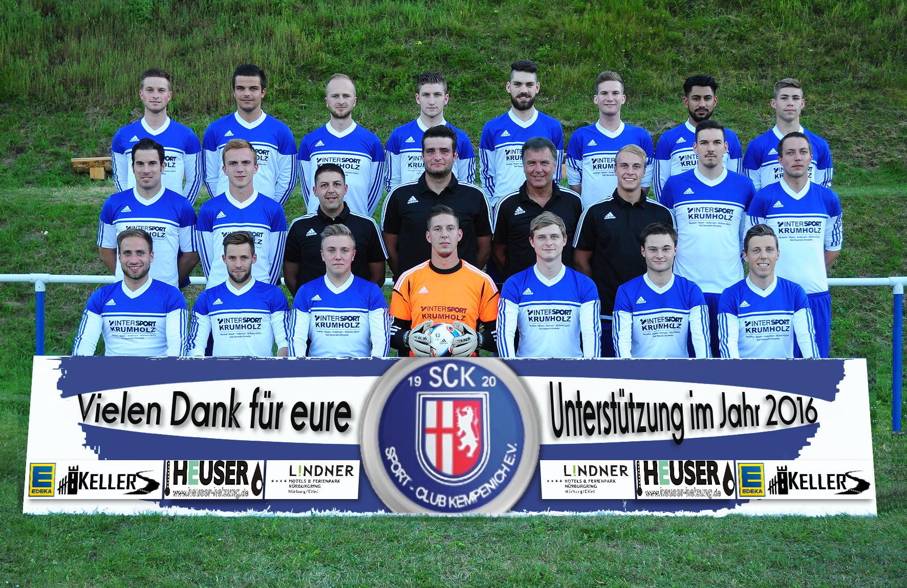 1. Mannschaft SG Kempenich-Spessart_Vielen Dank 2016
