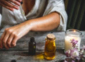 cbd oil in a small bottle