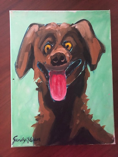 PAINT PACK FOR THE 'BROWN DOG' PAINTING