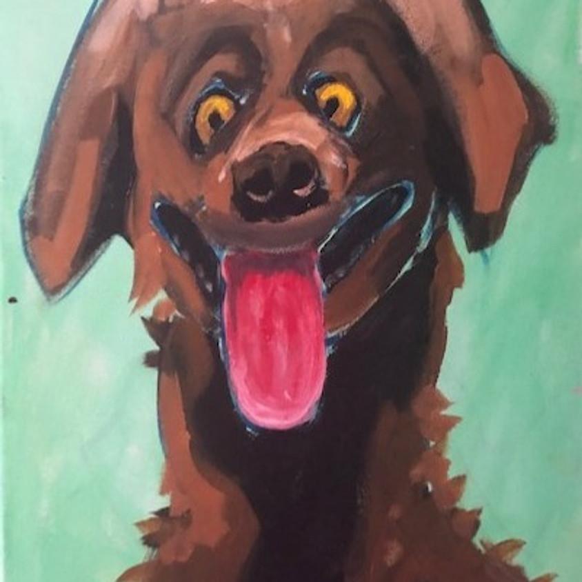 BEEF AUSTRALIA 1hr CRAZY BROWN DOG PAINTING site no OP 148 & 149