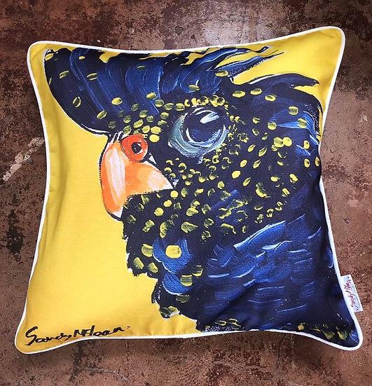 Black Cockatoo Cushion