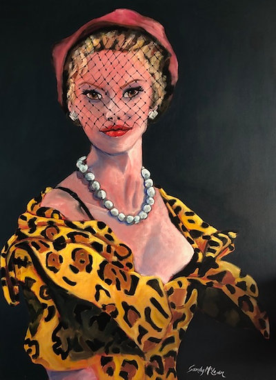 Lady in Leopard Skin